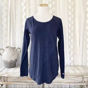 Columbia Henley Heather Deep Blue Winter Top Sm